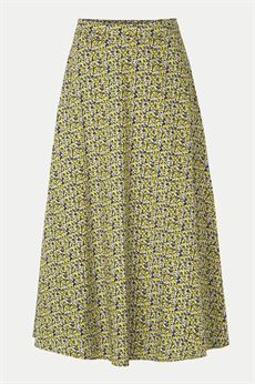 JUST FEMALE NEDERDEL, DOVE MAXI SKIRT, MULTI FLOWER