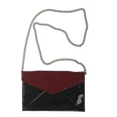 Envelope bag, bordeaux lak, Amust