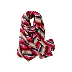 Scarf w. stribes, Pink, Just D`Lux