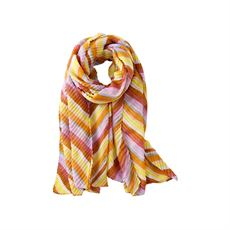 Scarf w. stribes, Cognac, Just D`Lux
