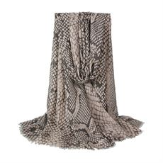 Scarf w. snake print, Beige, Just D`Lux