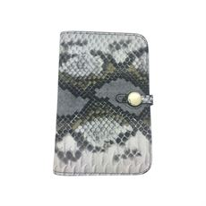 Wallet in snake print, C2-0006, Grey, Just D`Lux