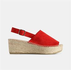 ALICE RUSKINDS ESPADRILLOS SANDAL - RED