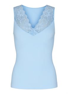 TIM & SIMONSEN TOP, BELEN V-LACE TOP, LIGHT BLUE