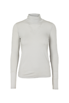 BASIC APPAREL T-NECK, JOLINE T-NECK, GLACIER GRAY