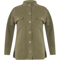 Jacket w. ruffle on back - Olive green, Coster Copenhagen