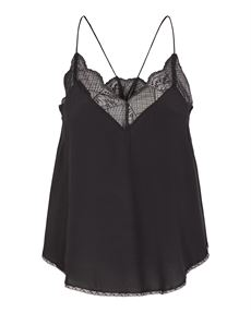 CO`COUTURE TOP, OMAN LACE SINGLET, SORT