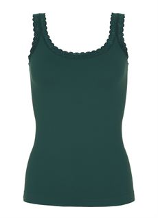 TIM & SIMONSEN TOP, RIB TOP, BOTTLE GREEN (DARK GREEN)