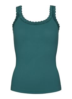 TIM & SIMONSEN TOP, RIB TOP, SALVIA GREEN