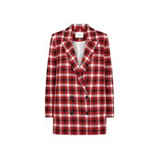 Holmes check blazer, Red check, Just Female