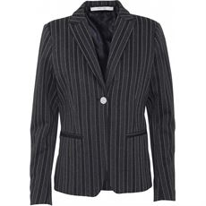 COSTAMANI BLAZER, KINGO, BLACK/SILVER STRIPE