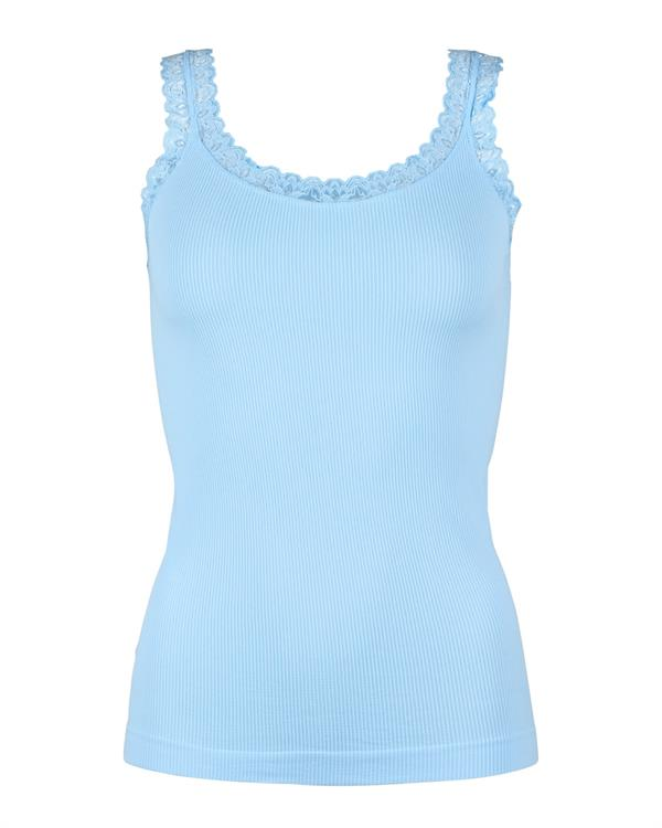 RIB TOP, LIGHT BLUE, TIM & SIMONSEN