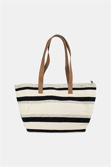 RE:DESIGNED - LILA STRIPE CANVAS TASKE I SORT