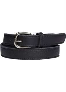 TIM & SIMONSEN BELT, ANNI LEATHER BELT, SORT