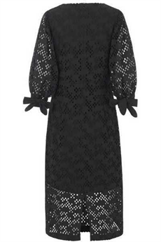 JUST FEMALE KJOLE, AVADOR DRESS, BLACK