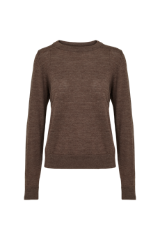 BASIC APPAREL STRIK, VERA SWEATER, BROWN MEL