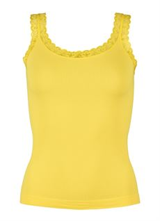 TIM & SIMONSEN TOP, RIB TOP, YELLOW